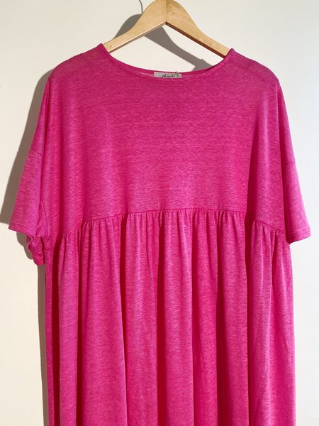 ICHI ANTIQUITES Linen Knit Dress - Fuchsia
