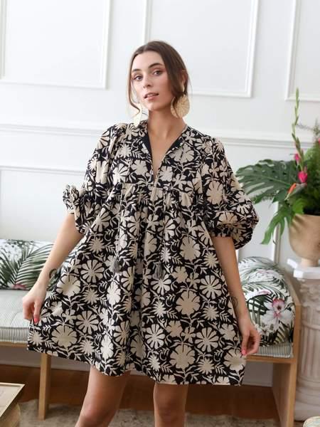 Mille Daisy Dress - Night Bloom
