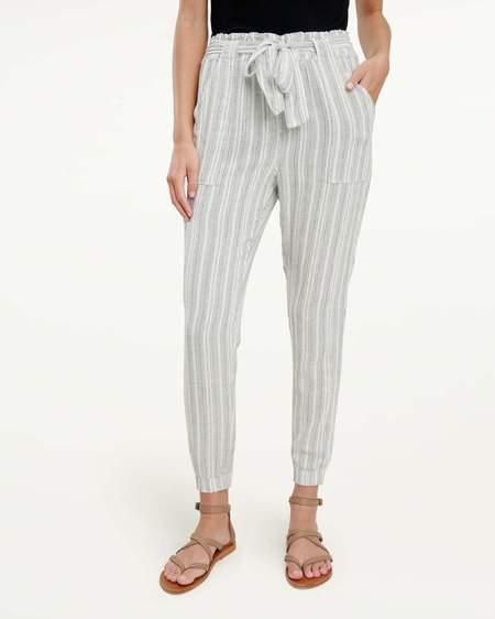 Splendid Bungalow Stripe pant - Lead/White Stripe