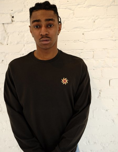 Katin Sun Embroidery Tee - Black Wash