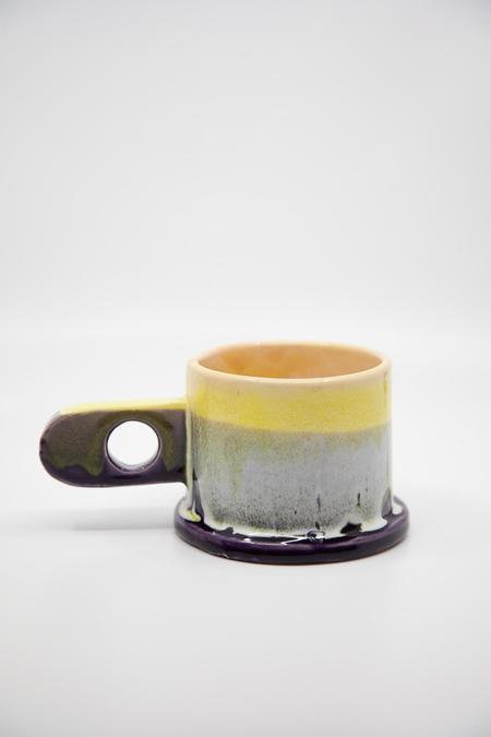 Peter Shire Dipped Mug - Purple/Yellow