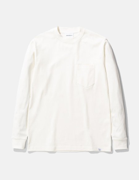 Norse Projects Johannes Pocket Long Sleeve T-Shirt - Ecru