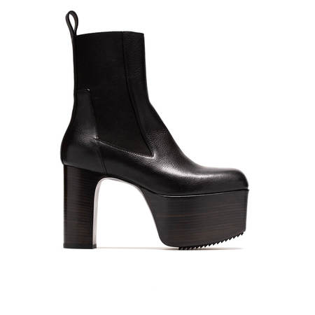 Rick Owens Platforms Boots - black