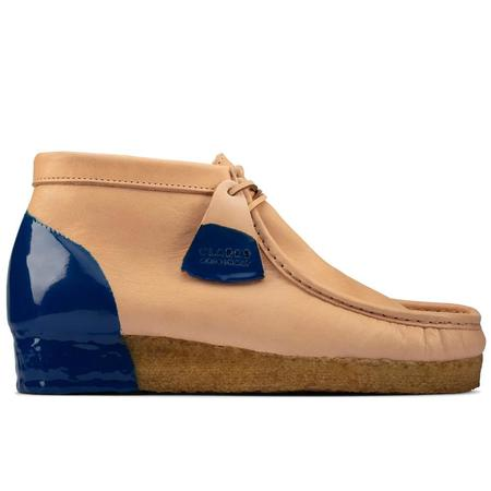 Clarks Wallabee Boot - Natural/Blue