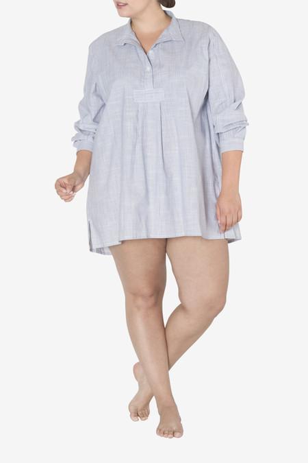 The Sleep Shirt Short Sleep Shirt Navy Pinstripe PLUS