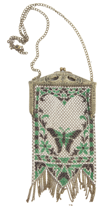 Serendipitous Project Art Deco Butterfly Design Chainmail Pouch Necklace