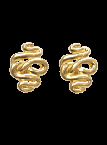 Vintage St. John Modernist Abstract Clip-on Earrings