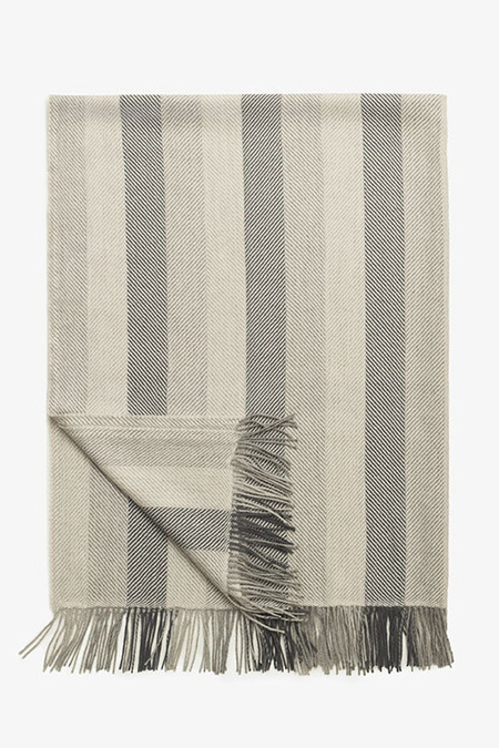 Beach House Woven Alpaca Throw in Smoke