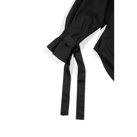 GREI. Round Neck Trench Tie Top - Black