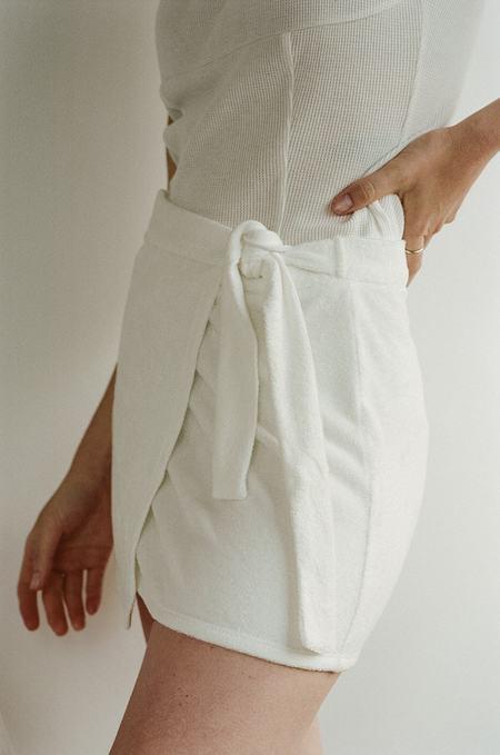 BUCI Waffle Wrap Skirt - White