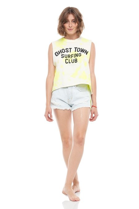 SANDRINE ROSE Ghost Town Surfing Club Short Hem Tank