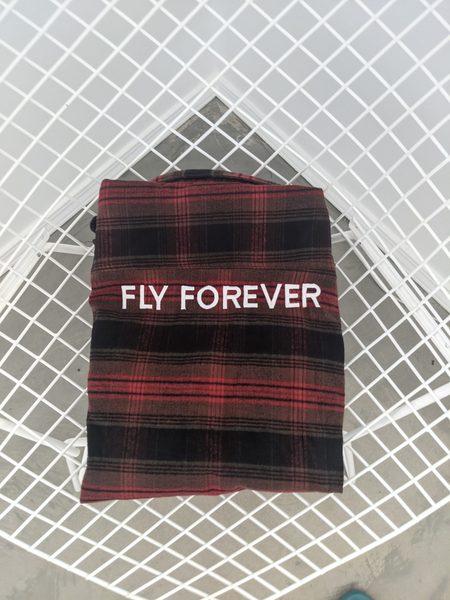 FLY FOREVER Plaid Shirt - Crimson