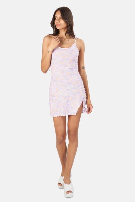 LoveShackFancy Fletcher Mini Dress - Misty Lilac