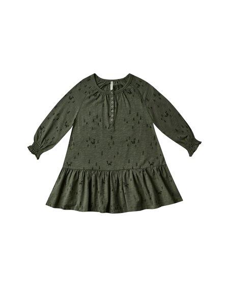 kids Rylee + Cru Woods Swing Dress - green