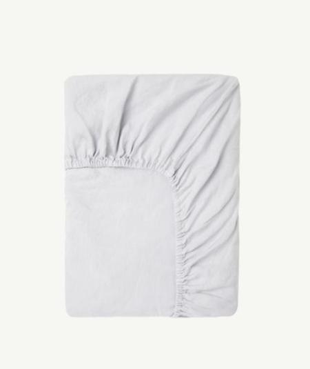 Kids Summer & Storm Fitted Crib Sheet - Powder Blue