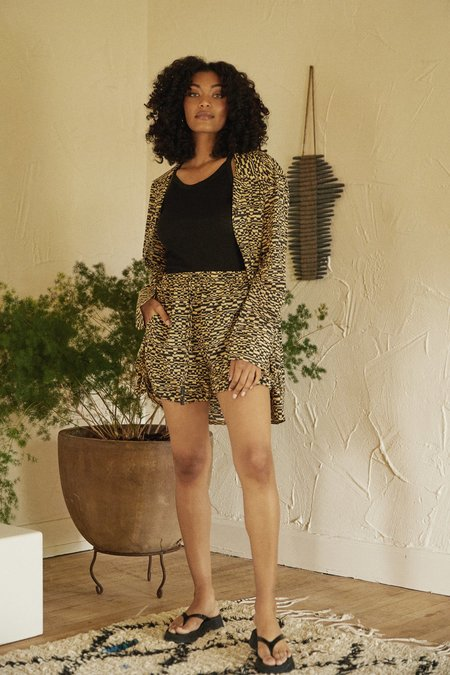 Nanushka Louisa Rolled Hem Shorts - Optic Wave