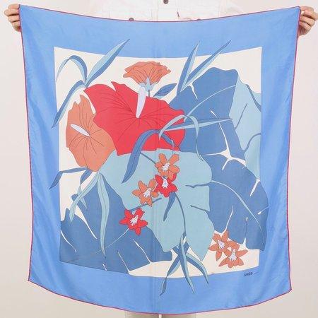 gres french designer silk scarf