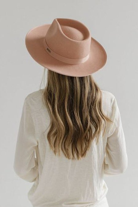 GiGi Pip Monroe Rancher Hat - Dusty Pink