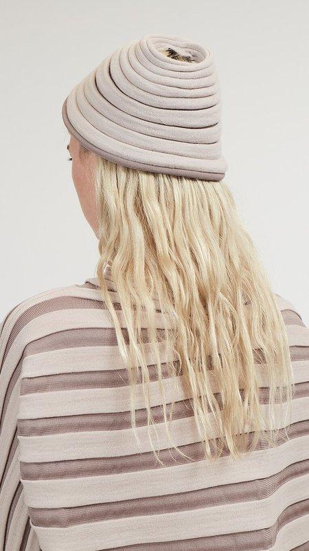 Issey Miyake Pleats Please Bounce Knit Hat - Beige/Dark Beige