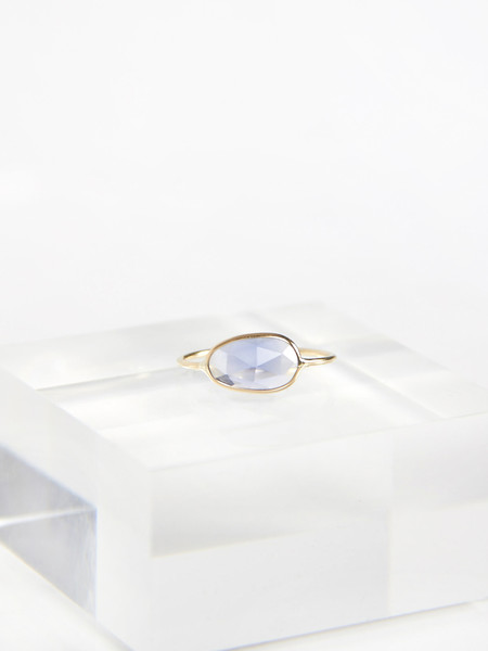 Vale Rose Cut Sapphire Slice Ring