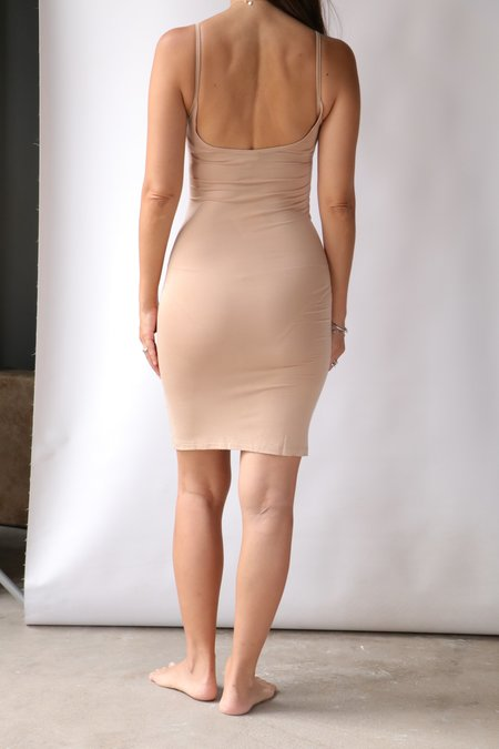 Baserange Slip Dress - Nude