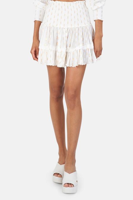 Sunday Saint Tropez Pomponette Skirt - blanc