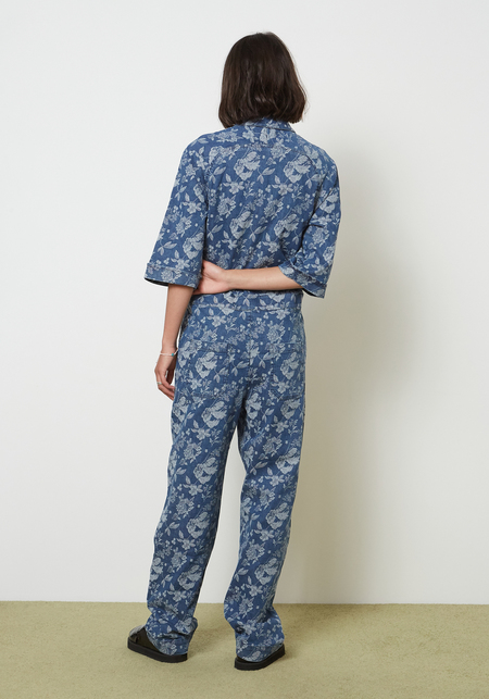 YMC Harvest Jumpsuit - Floral Indigo