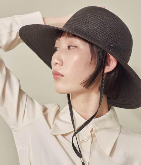 Clyde Koh Panama Straw Hat - Black