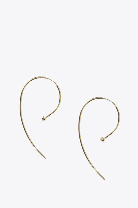 Kathleen Whitaker Loop Earring in Yellow Gold