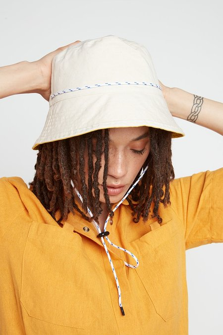 back beat rags Reversible Bucket Hat - Canary/Cereal