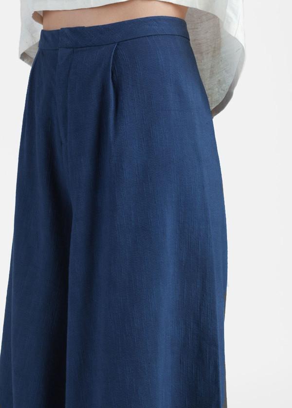 Kaarem Seaweed Wide Leg Culotte