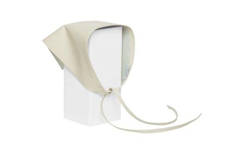 Clyde Lambskin Handkerchief scarf - Chalk