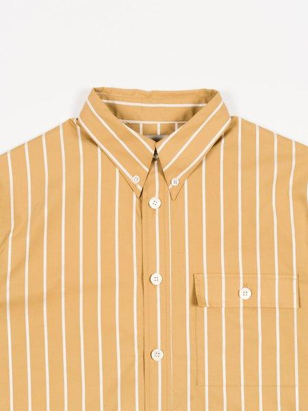 archie Button Down SHIRT - Gold/White Stripe