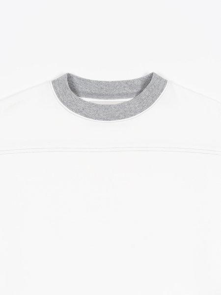 archie Yoke Shirt - White/Heather
