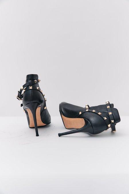 PRE-LOVED Valentino Rockstud Ankle Boots - BLACK