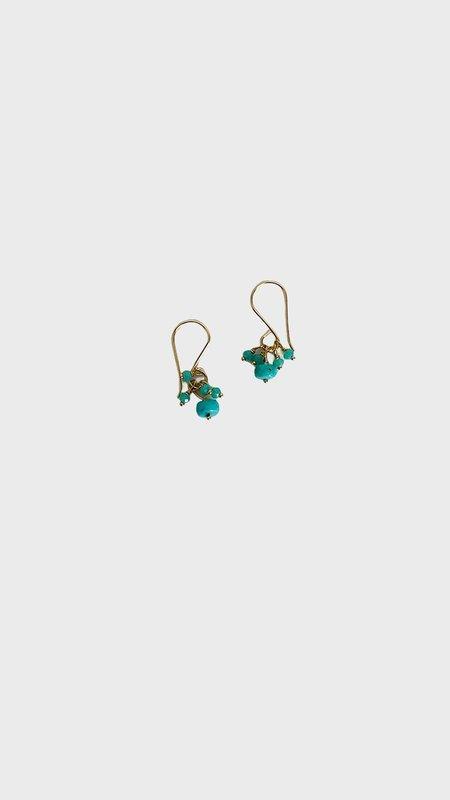 Debbie Fisher Cluster Earrings - Turquoise