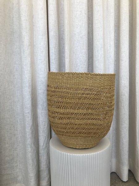 Kazi Goods LACE HURRICANE Basket - Natural