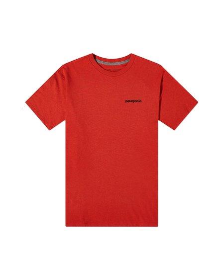 Patagonia Camiseta Logo P-6 Responsibili-Tee - Hot Ember