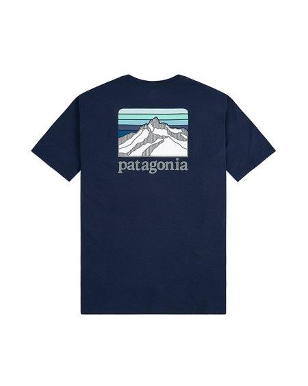Patagonia Camiseta Ms Line Ridge Pocket Responsabili-Tee - Classic Navy