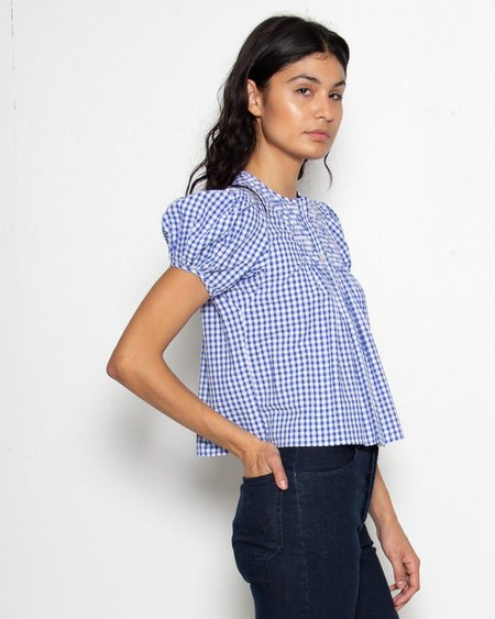 Rachel Comey Letta Top - Blue/White Gingham