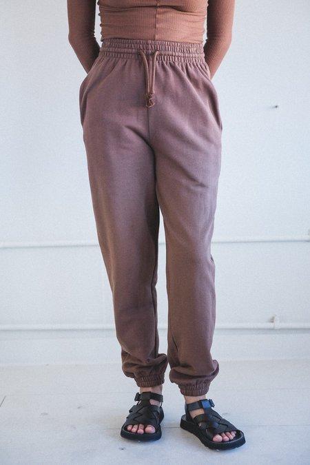 Baserange  Italian Fleece Sweatpants - Loam Brown