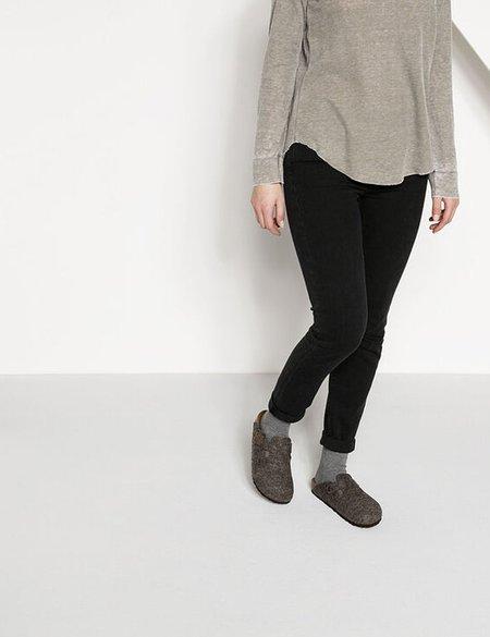 Birkenstock Boston Wool Felt Narrow Sandals - Cacoa Brown