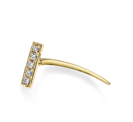 Gabriela Artigas E24 Pave 14K Infinite Tusk Bar Earring