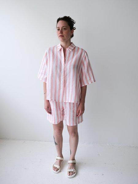 Odeyalo Parlour Shirt - Pink Stripes