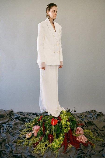 KkCo Forage Flower Jacquard Blazer - Blanco