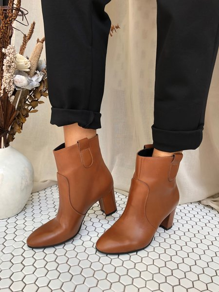 Ateliers Tex Leather Boots - Tan