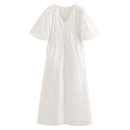 OPUSION Puff Sleeve Tie Side Maxi Dress