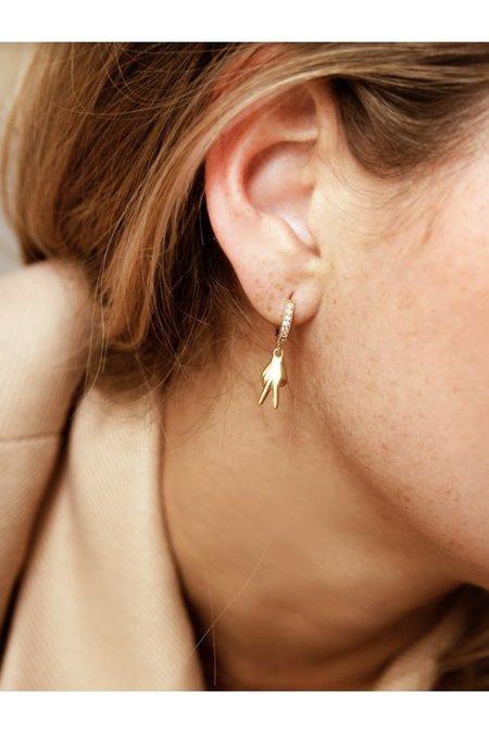 Alexa Leigh Crystal Huggie Hoop Earring with Charm Attachment