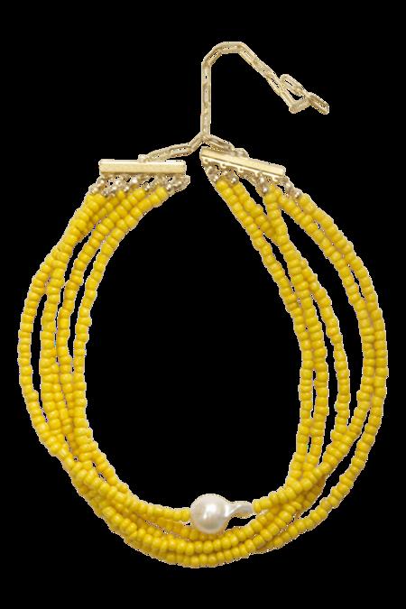 Serendipitous Project Sunshine Choker - yellow