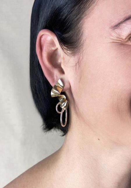 Quarry Elbe Loop Earrings - Brass